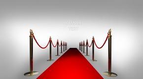 Il tappeto rosso su 3d bianco rende Immagine Stock
