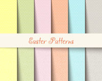 Il tartan di Pasqua modella l'illustrazione di vettore Fotografia Stock