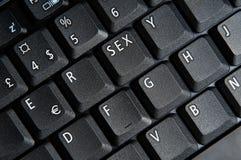 Il tasto del sesso Fotografia Stock Libera da Diritti