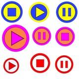 Il tasto di playback, arresto, pausa. immagini stock libere da diritti