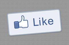 Il tasto gradice il facebook illustrazione di stock