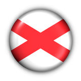 Il tasto rotondo S.U.A. indica la bandierina dell'Alabama Fotografie Stock