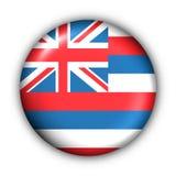 Il tasto rotondo S.U.A. indica la bandierina dell'Hawai illustrazione vettoriale
