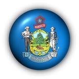 Il tasto rotondo S.U.A. indica la bandierina della Maine Fotografia Stock