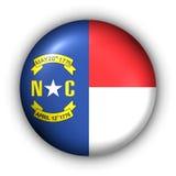 Il tasto rotondo S.U.A. indica la bandierina di North Carolina Immagini Stock Libere da Diritti