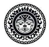 Il tatuaggio ha disegnato la maschera Fotografia Stock