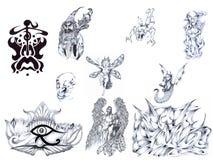 Il tatuaggio ha impostato II. Immagine Stock