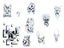 Il tatuaggio ha impostato III. Fotografia Stock