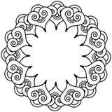 Il tatuaggio indiano del hennè ha ispirato la corona di forme del cuore con il tipo di elemento delle foglie 3 Fotografie Stock