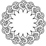 Il tatuaggio indiano del hennè ha ispirato la corona di forme del cuore con il tipo di elemento delle foglie 3 Immagini Stock