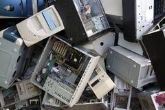 Il tavolo del calcolatore del hardware ricicla l'industria Fotografie Stock Libere da Diritti