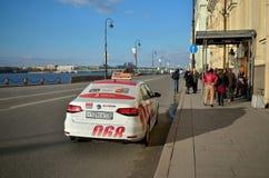 Il taxi è arrivato sulla chiamata Fotografia Stock Libera da Diritti