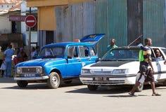 Il taxi nell'inferno Ville, curioso è, il Madagascar Fotografia Stock
