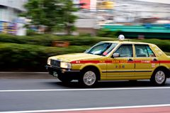 Il taxi zumma Shinjuku Immagine Stock Libera da Diritti