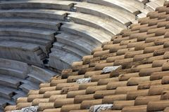 Il teatro antico dell'attico di Herodes è una piccola costruzione della Grecia antica usata per le prestazioni pubbliche di music immagini stock