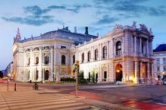 Il teatro Burgtheater della condizione di Vienna, Austria Fotografia Stock Libera da Diritti