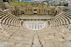 Il teatro del nord in Jerash Fotografia Stock Libera da Diritti