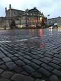Il teatro dell'opera di Kyiv nella pioggia - UCRAINA - EUROPA immagine stock