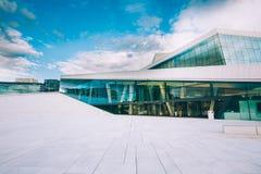 Il teatro dell'opera di Oslo, Norvegia Fotografie Stock Libere da Diritti