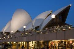 Il teatro dell'opera, Sydney, Australia fotografie stock