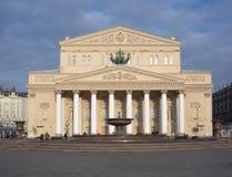 Il teatro di Bolshoi sul quadrato di Teatralnaya immagine stock libera da diritti