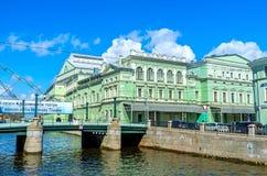 Il teatro di opera e di balletto di Mariinsky a St Petersburg Immagini Stock Libere da Diritti
