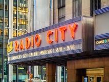 Il teatro di varietà radiofonico della città a New York immagini stock