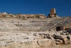 Il teatro greco, Siracusa, Sicilia, Italia immagine stock libera da diritti