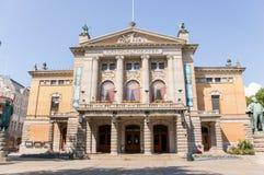 Il teatro nazionale della Norvegia Fotografia Stock Libera da Diritti