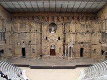 Il teatro romano in arancio (Francia); la scena Immagini Stock Libere da Diritti