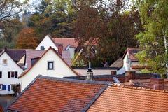 Il tedesco d'annata anziano alloggia l'architettura Fotografie Stock