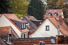 Il tedesco d'annata anziano alloggia l'architettura Immagini Stock