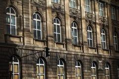 Il tedesco d'annata anziano alloggia l'architettura Immagini Stock Libere da Diritti