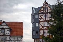 Il tedesco d'annata anziano alloggia l'architettura Fotografie Stock Libere da Diritti