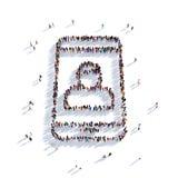 Il telefono contatta la gente 3d Immagine Stock Libera da Diritti