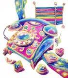 Il telefono del caramello Illustrazione Vettoriale