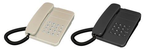 Il telefono due Fotografia Stock