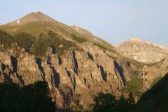 Il tellururo alza Alpenglow verticalmente Immagine Stock Libera da Diritti