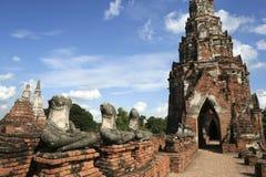 Il tempiale antico di ayutthaya rovina la Tailandia Fotografia Stock