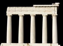 Il tempiale del greco antico ha isolato immagini stock libere da diritti
