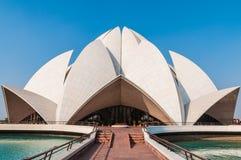 Il tempiale del loto di Baha'i a Delhi Fotografia Stock
