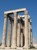 Il tempiale dello Zeus di olimpionico Fotografia Stock Libera da Diritti