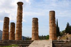 Il tempiale di Apollo a Delfi, Grecia fotografie stock