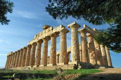 Il tempiale di Hera, a Selinunte Immagine Stock Libera da Diritti