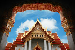 Il tempiale di marmo, Bangkok, Tailandia Immagine Stock