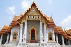 Il tempiale di marmo, Bangkok, Tailandia Fotografia Stock