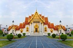 Il tempiale di marmo (Wat Benchamabophit) Fotografie Stock Libere da Diritti