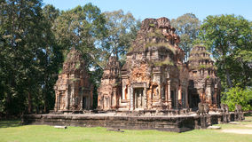 Il tempiale di Preah Ko in Siem Reap, Cambogia Fotografie Stock Libere da Diritti