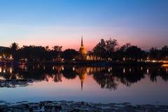 Il tempio antico al tramonto Fotografie Stock Libere da Diritti