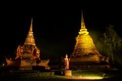 Il tempio antico alla notte Immagine Stock Libera da Diritti